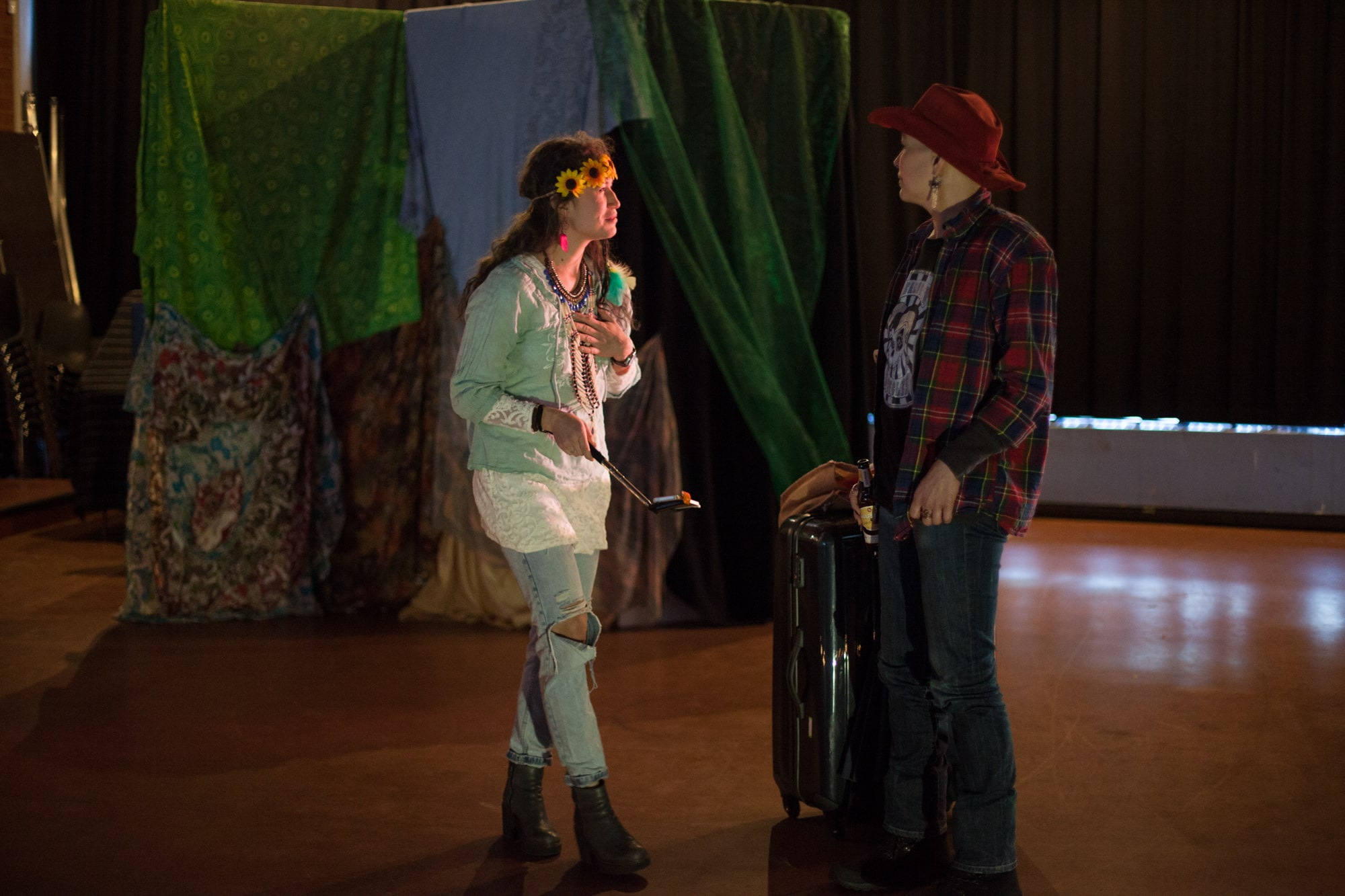 Act Attack theatre class two people performing